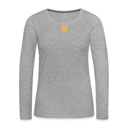 RDR logo svrt - Premium langermet T-skjorte for kvinner