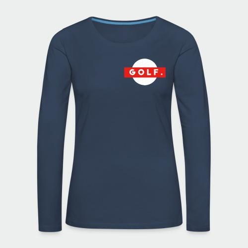 GOLF. - T-shirt manches longues Premium Femme