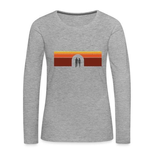 Couple in tunnel warm - Dame premium T-shirt med lange ærmer