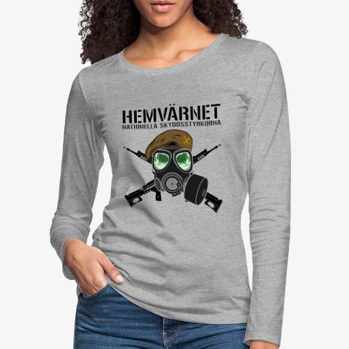 Hemvärnet - Skyddsmask 90 + Ak 4C - Långärmad premium-T-shirt dam