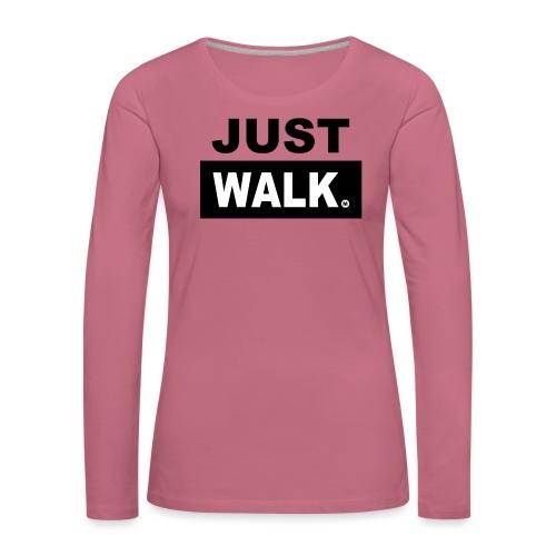 JUST WALK vrouw ls - Vrouwen Premium shirt met lange mouwen