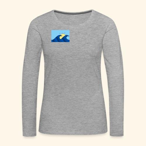 Espoir double wave - Women's Premium Longsleeve Shirt
