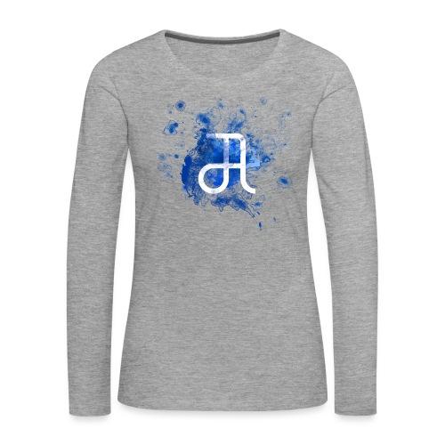 Glyphe Blau - Frauen Premium Langarmshirt