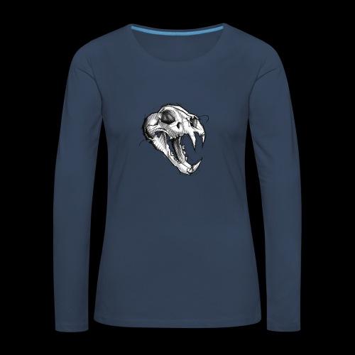 Teschio Tigre - Maglietta Premium a manica lunga da donna
