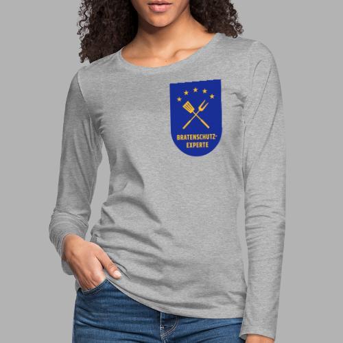 EU Bratenschutz-Experte Dienstabzeichen (blau) - Frauen Premium Langarmshirt