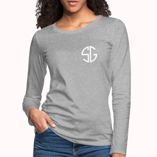SemGamer log in wit - Vrouwen Premium shirt met lange mouwen