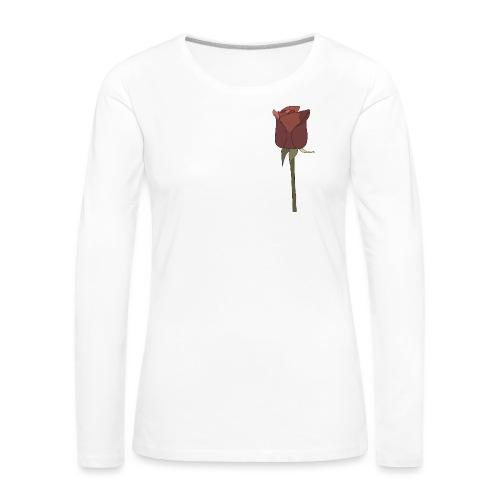 Rose - Frauen Premium Langarmshirt
