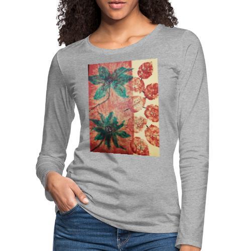 Herbstblumen - Frauen Premium Langarmshirt