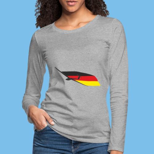 deutschlandflagge segelflugzeug Segelflieger - Frauen Premium Langarmshirt
