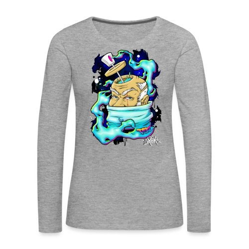 Spray Genius - Graffiti character design - T-shirt manches longues Premium Femme
