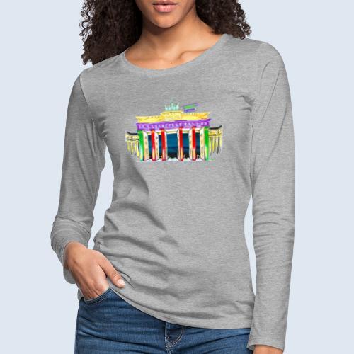 "Berlin ""Brandenburger Tor"" PopArt Design - Frauen Premium Langarmshirt"