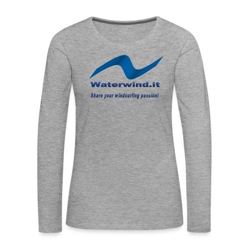 logo waterwind lycra magliette no sfondo png - Women's Premium Longsleeve Shirt