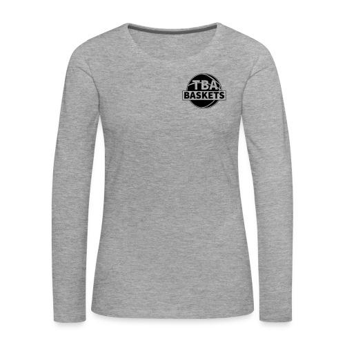 LOGO Black - Frauen Premium Langarmshirt