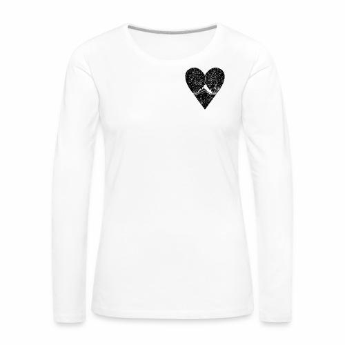 Bergliebe - used / vintage look - Frauen Premium Langarmshirt