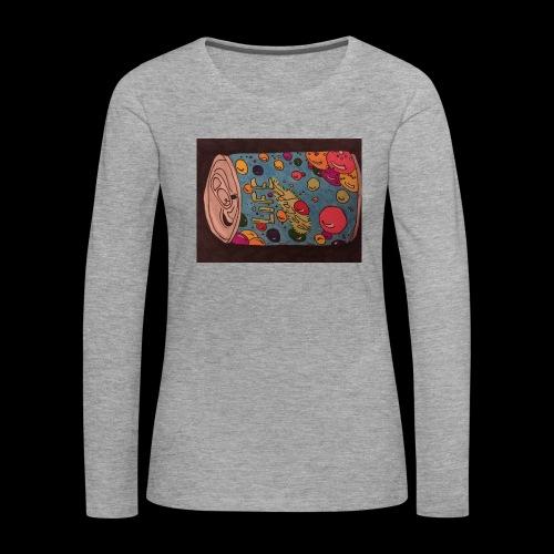 7AABC614 53CA 4156 B765 D9FBF5B8E496 - Dame premium T-shirt med lange ærmer