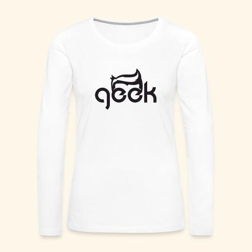 GEEK LOGO - Maglietta Premium a manica lunga da donna