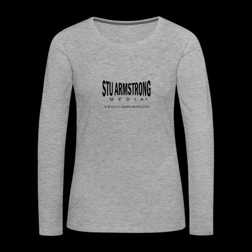 Stu Armstrong Media Black Logo - Women's Premium Longsleeve Shirt