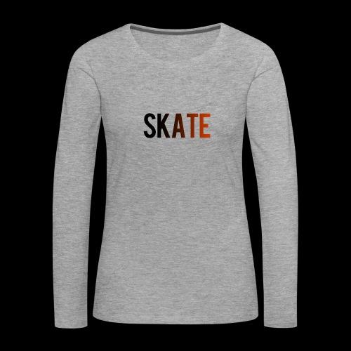 SKATE - Vrouwen Premium shirt met lange mouwen