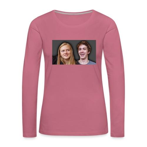 Profil billede beska ret - Dame premium T-shirt med lange ærmer