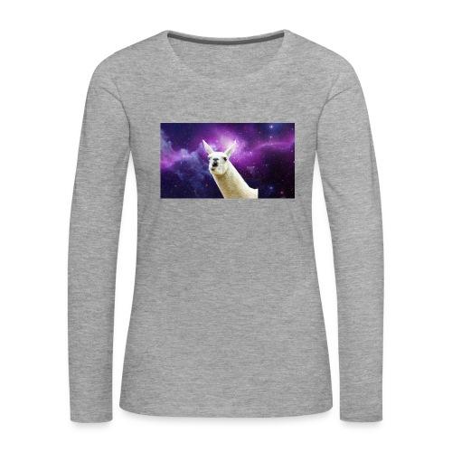 Laama my frend! - Naisten premium pitkähihainen t-paita