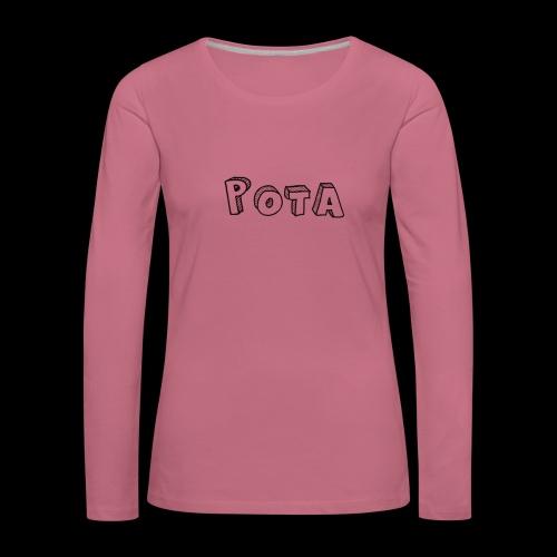 pota1 - Maglietta Premium a manica lunga da donna