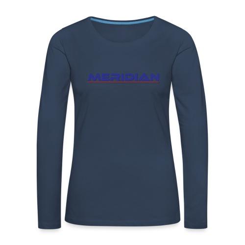 Meridian - Maglietta Premium a manica lunga da donna