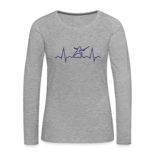 cardio scherma - Maglietta Premium a manica lunga da donna