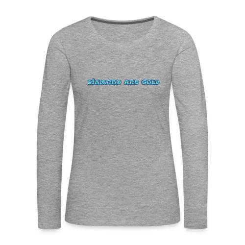 Diamond And Gold - Långärmad premium-T-shirt dam