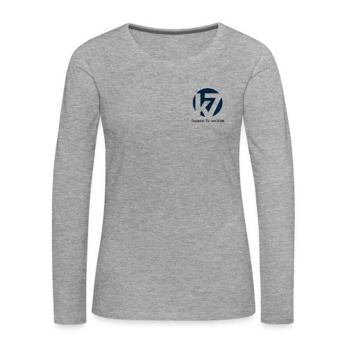 studenttv sort font gif - Premium langermet T-skjorte for kvinner