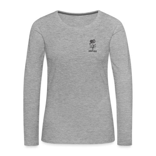 Døgnfluerne Short Comic Simpelt Logo Design. - Dame premium T-shirt med lange ærmer