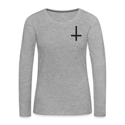 Cruz - Camiseta de manga larga premium mujer