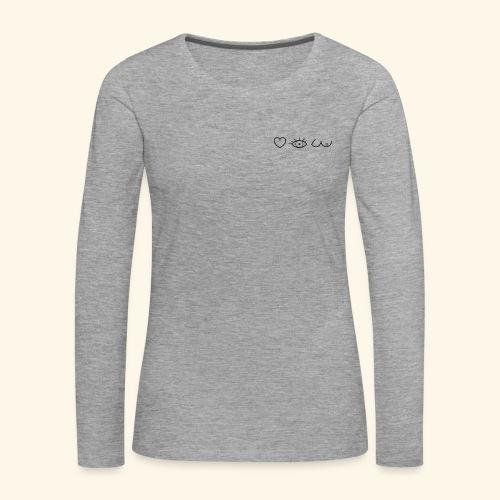 J'aimer regarder les filles - T-shirt manches longues Premium Femme