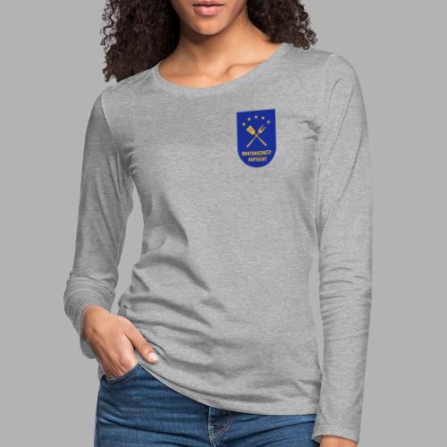 EU Bratenschutz-Aufsicht Dienstabzeichen blau - Frauen Premium Langarmshirt