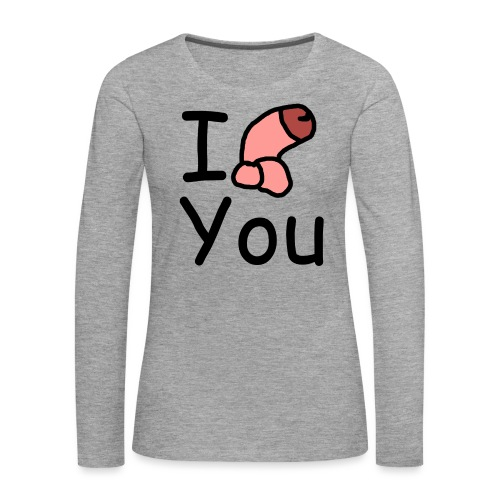 I dong you cup - Women's Premium Longsleeve Shirt