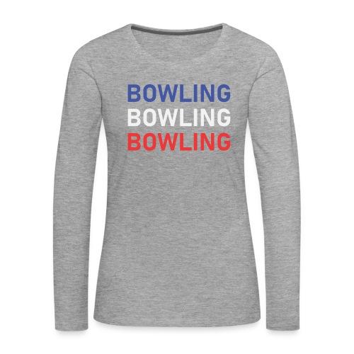 Bowling Bleu Blanc Rouge - T-shirt manches longues Premium Femme