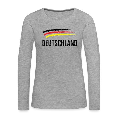 Deutschland, Flag of Germany - Women's Premium Longsleeve Shirt