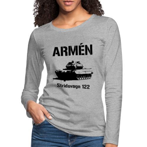 ARMÉN - Stridsvagn 122 - Långärmad premium-T-shirt dam