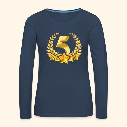 Fünf-Stern 5 sterne - Frauen Premium Langarmshirt