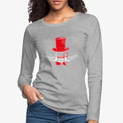 Elegant Hipster Fish - Mustache - Red - Frauen Premium Langarmshirt