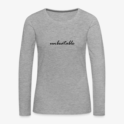unbeatable - Frauen Premium Langarmshirt