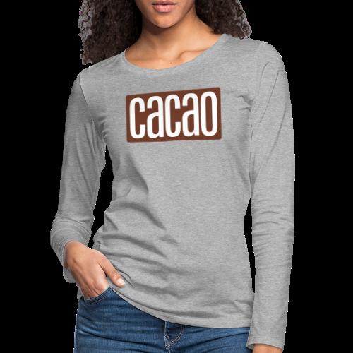 cacao - Frauen Premium Langarmshirt