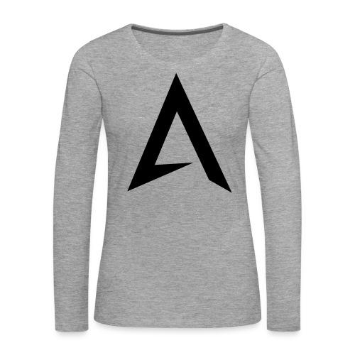 alpharock A logo - Women's Premium Longsleeve Shirt