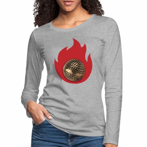 petanque fire - T-shirt manches longues Premium Femme