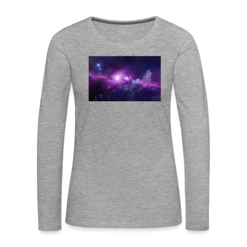 tshirt galaxy - T-shirt manches longues Premium Femme