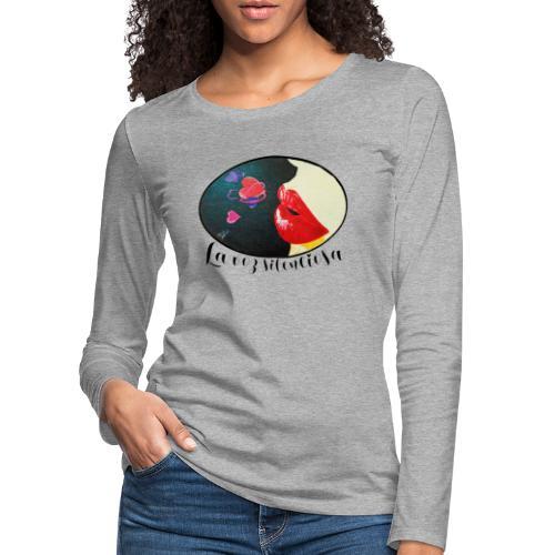 La Voz Silenciosa - Besos - Camiseta de manga larga premium mujer