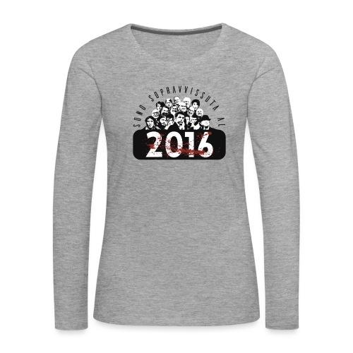 La tshirt del 2016 F - Maglietta Premium a manica lunga da donna