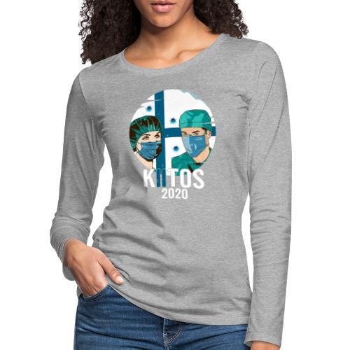 Kiitos 2020 - Naisten premium pitkähihainen t-paita