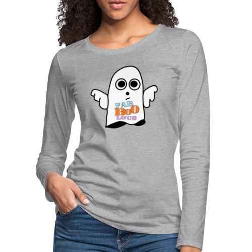 Halloween Geist BOO - Frauen Premium Langarmshirt