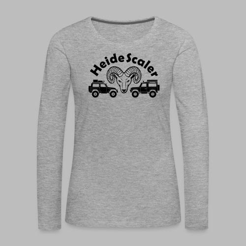 Heide Scaler (freie Farbwahl) - Frauen Premium Langarmshirt