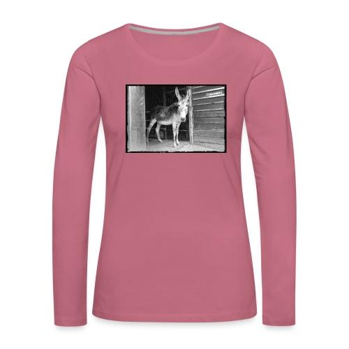 Zickenstube Esel - Frauen Premium Langarmshirt